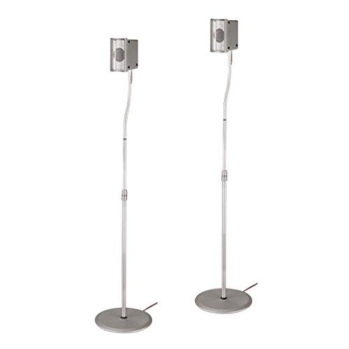 """HAMA Supporto universale regolabile per casse""""Slim"""", argento, 5 kg (123 cm)"""