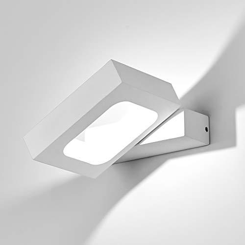 HAOFU 10W LED Lampada da Parete,LED Applique da Parete Interni Decorazione per Sala Soggiorno Corridoio,6000k Bbianco Freddo,145 * 130 * 30mm (Bianco+bianco Freddo)