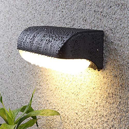 HAOFU 12W Lampada da Parete per esterno,Applique da Parete Impermeabile IP65 Lampada Muro in Alluminio+acrilico,3000K Bianco Caldo,nero