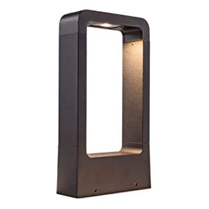 HAOFU 12W LED Lampade da giardino illuminazione da Esterno Patio sentieri alluminio LED Lampade da terraLampada da sentieri in alluminio LED IP65 Impermeabile aiuole nero 3000K (bianco caldo)