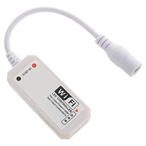 Haudang - Controller WiFi con telecomando a LED, compatibile con Alexa/Home Voice Control per strisce LED RGB 5050/3528 ?Ndern/dimmer/timer/– Controllo applicazione iOS/Android
