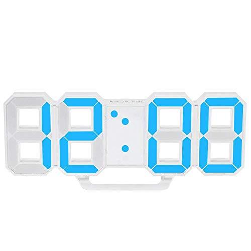 Haudang Orologio a LED Multifunzionale Orologio da Parete Digitale LED di Grandi Dimensioni Display a 12 Ore / 24 Ore con Sveglia e Funzione Snooze Luminanza Regolabile
