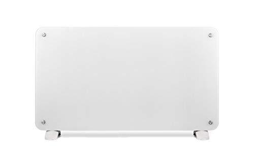 Haverland OSYRIS-20 | Termoconvettore Elettrico Programmabile 2000 W | Basso Consumo | Design Pannello in Vetro | Riscaldatore Portatile / da Parete | Termostato Digitale LCD | Timer | Bianco