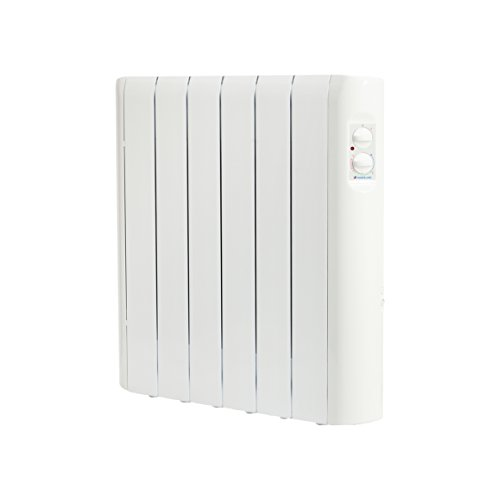 Haverland RC6A | Radiatore elettrico a fluido di elevata inerzia termica | 750 W | Regulazione analogica | Uso ideale 1-6 ore/giorno | +/- 7-12 m² | Bianco