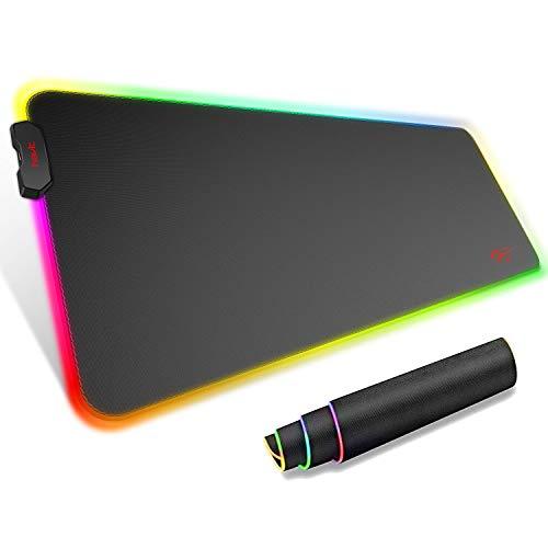 havit Tappetino Mouse Gaming XXL RGB Mousepad 800 * 300 * 4mm Extra Grande Estesa Tastiera e Mouse Pad per Desktop con Base in Gomma Antiscivolo (MP858)