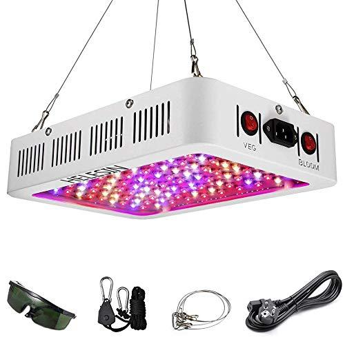HELESIN 1000W LED Lampada Coltivazione, Luci per Piante Full Spectrum, LED Grow Light con Controlli VEG e BLOOM und Funzione Daisy Chain per Piante Crescita,Piante da Interno, Fiori e Verdure