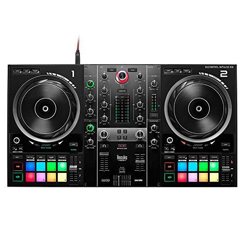 HERCULES DJControl Inpulse 500 (controller DJ a 2 posti, Beatmatch Guide, IMA, 16 RGB, integrato Scheda sonora/mixer, Mic-In, DJ Academy, DJUCED & Serato DJ Lite, PC/Mac)