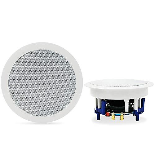 """Herdio Altoparlanti da soffitto Bluetooth da 5,25""""Sistema di altoparlanti da casa 300 Watt perfetti per cucina, camera da letto, bagno, home theater, portici coperti Una coppia"""