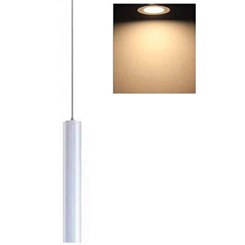 Hobaca 12W Dia5CM L30CM Bianco Tubo LED COB Moderno Faretti da soffitto Lampade a sospensione Isola cucina Sala da pranzo Negozio Bancone bar Decorazione Cilindro Tubo Illuminazione a sospensione