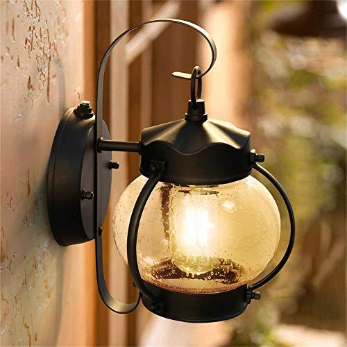 Hobaca® E27 Vetro Impermeabile in Alluminio Tradizionale Lampada da Parete per Esterno Per Illuminazione Di Esterni Vintage Luce Parete Corridoio Applique IP44