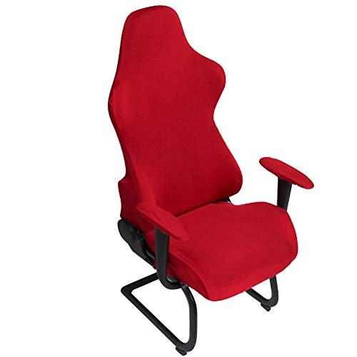 Homyy, coprisedia per sedia da gaming, ergonomici, elasticizzati, per ufficio, computer da gioco, per sedia da gioco, stile racing, colore: rosso vino