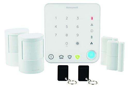 Honeywell Home HS330S Kit Allarme Senza Fili per Appartamento con Sistema di Controllo Intelligente, Bianco