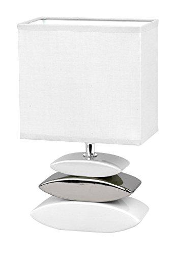 Honsel 53581 Lampada da tavolo Liner, Bianco, metallo