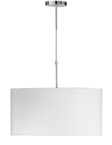 Honsel Leuchten, Lampada a sospensione, 130 x 50 x 50 cm, incandescenza, plastica, bianco
