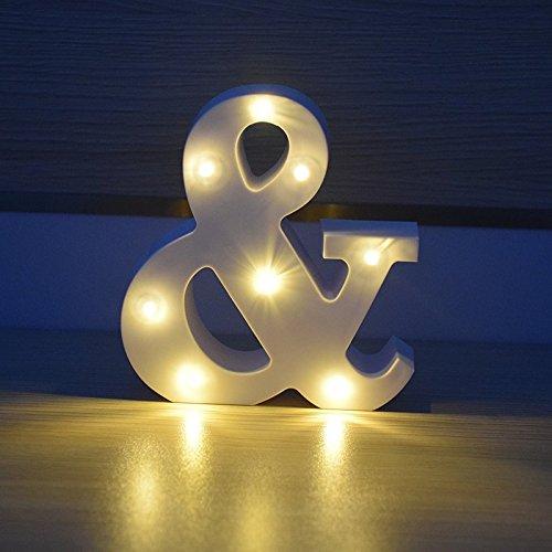 HopeU5® Versione aggiornata Lettere a LED decorative Lettere di legno bianche calde Lettere e luci (&)
