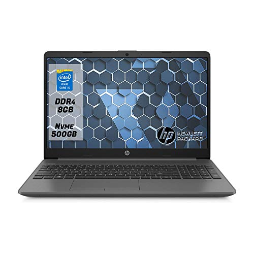 "Hp 250 g7 Notebook intel core i5 1035G1, Ram 8Gb Ddr4,Ssd M.2 500Gb ,Dispaly 15.6""Hd antiriflesso,Pc portatile Windows 10 Professional"