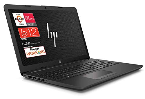 "HP 255 G7 Notebook portatile, SSD M2 da 512GB, Display da 15.6"", Amd A6 3050U fino a 3,2 GHz, 8GB di RAM DDR4, Libre Office, Wi-fi, Dvd-Cd Rw, 3 usb, web cam, Win10 Pro, Pronto All'uso, Gar. Italia"