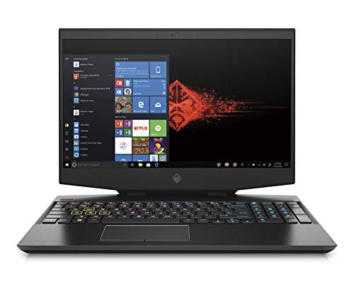 "HP - Gaming OMEN 15-dh1002nl Notebook, Intel Core i7-10750H, RAM 16 GB, SSD 512 GB, NVIDIA GeForce RTX 2070 8 GB, Windows 10 Home, Schermo 15.6"" FHD IPS 144 Hz, Bang&Olufsen, USB-C, HDMI, RJ-45, Nero"