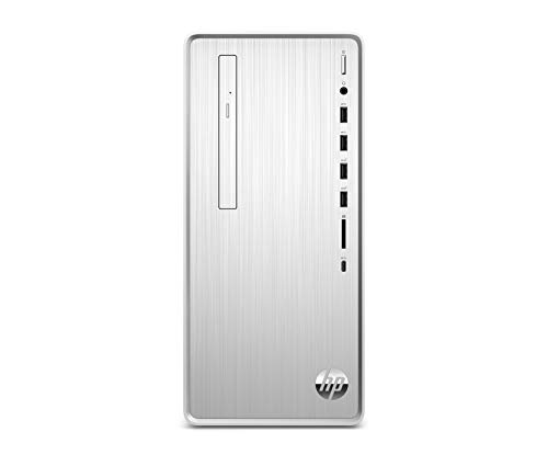 HP – PC Pavilion TP01-0073nl Desktop, Intel Core i7-9400F, RAM 8 GB, SSD 512 GB, Grafica AMD Radeon RX550 2 GB, Windows 10 Home, Lettore DVD, Lettore Micro SD, Bluetooth, HDMI, USB-C, RJ-45, Argento