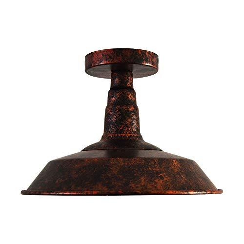 Huahan Haituo Éclairage industriel Edison Semi Flush Mount Mini Vintage plafonnier (ampoule non comprise)(bianco)