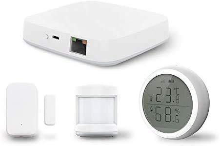 Hub Tuya Zigbee Smart Home +Sensore PIR +Sensore porta +Sensore di temperatura e umidità Sistema domotico di sicurezza domestica