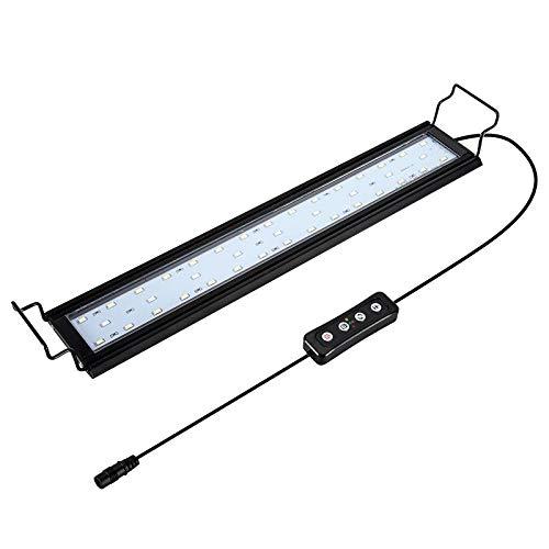 Hygger Aquarium Lighting Lampada per Acquario a LED con Timer, dimmerabile, Luce a LED con Supporto Regolabile per Piante da Acquario 41-61 cm, 14 W (Luce Bianca, Blu e Rossa)