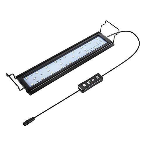 Hygger Aquarium Lighting Lampada per Acquario a LED con Timer, dimmerabile, Luce per Acquario a LED con Supporto Regolabile per Piante da Acquario 28-48 cm, 9 W (Bianco, Blu e Rosso)