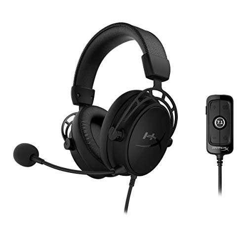 HyperX Cloud Alpha S - Cuffie per il gaming, per PC e PS4, Audio Surround 7.1, Bassi regolabili, Driver a doppia camera, Mixer per chat, Microfono con cancellazione del rumore