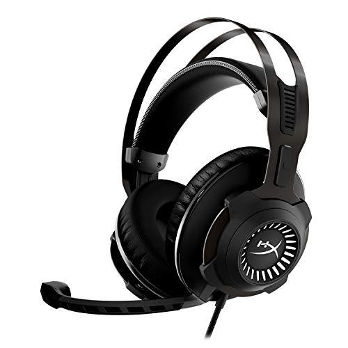 HyperX Cloud Revolver - Cuffie per il gaming con audio surround HyperX 7.1, esclusiva memory foam, similpelle di livello premium, telaio in acciaio, microfono scollegabile con cancellazione del rumore