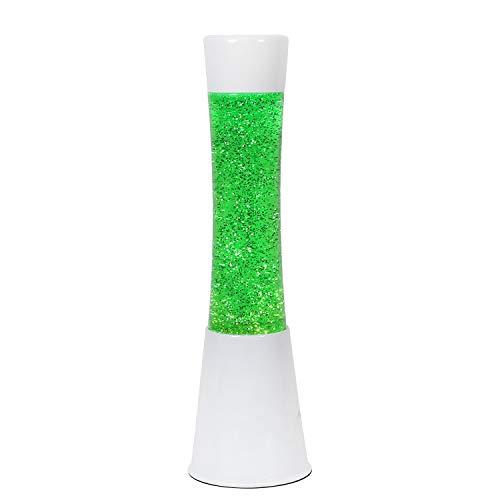 i-Total XL1753 Lampada grande di Lampada Lava Originale Metallo Bianco Glitter Liquido Colorato (VERDE)
