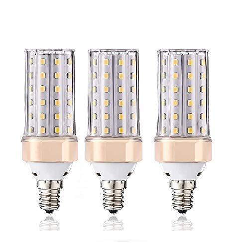 ILAMIQI Lot de 3 Ampoules LED E14 Dimmable 10W Bougeoir LED Equivalent à 100W 1200LM Bougie Culot Décoratif Économie d'Énergie Blanc 4000K Lampe LED