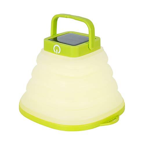 ILIKEPOW Lanterna a LED Pieghevole Lampada da Campeggio Bianco Caldo Impermeabile Solare USB Ricaricabile 3 modalità Dimmer Torcia per Campo Domestico Escursionismo Pesca Emergenze