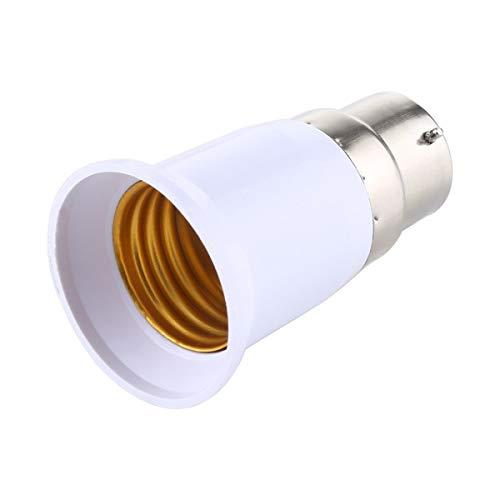 ILS - Convertitore adattatore lampadine da E27 a B22 (bianco)
