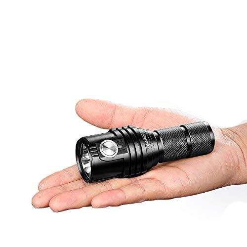 IMALENT MS03 Torcia tattica EDC Super Luminosa 13000 Lumen, 3 pz CREE XHP70 2nd LED Torcia tascabile ad alta lumen per campeggio, escursionismo, sicurezza e emergenza (MS03)