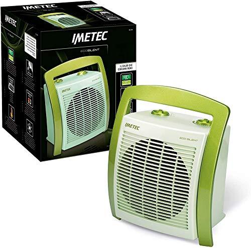 Imetec Eco Silent FH5-100 Termoventilatore Silenzioso a Basso Consumo Energetico, Maniglia Ergonomica, 3 Livelli di Temperatura, Termostato Ambiente