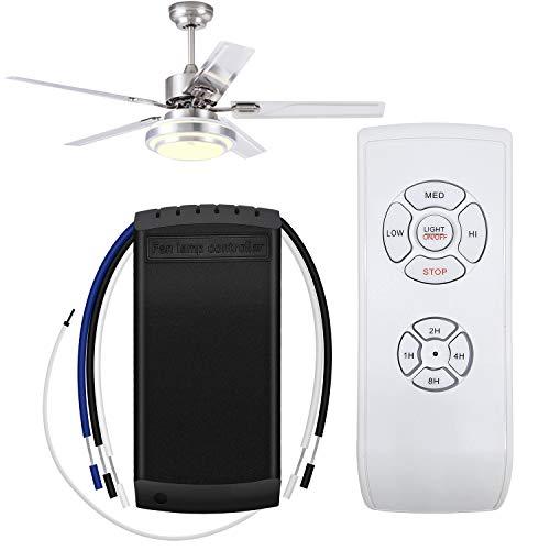 INHEMI Universale Ventilatore a soffitto Lampada luce Interruttore di controllo del timer Kit telecomando wireless Trasmettitore e ricevitore per la casa/ufficio/hotel/club/display di sala ect