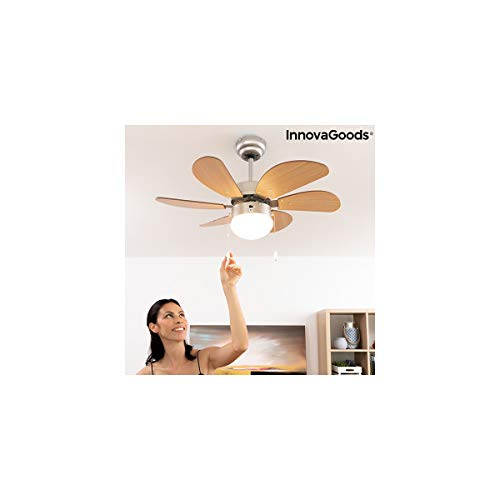 InnovaGoods - Ventilatore da soffitto con luce Ø 75 cm 55 W
