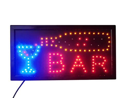 INSEGNA LUMINOSA A LED CON SCRITTA - BAR 48X25X2 CM