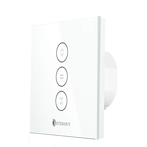Interruttore WiFi per Tapparelle, Etersky Touch Switch Smart per Motori per Tapparelle, Controllo Vocale Funziona con Alexa e Google Home, Controllo Remoto compatibile con iOS/Android [N filo Needed]