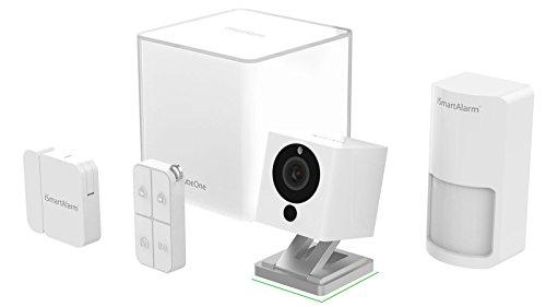 iSmartAlarm ISA2G Sistema di Sicurezza Domestico Wireless Modulabile con App per iOS ed Android, Videocamera HD Wi-Fi, Bianco