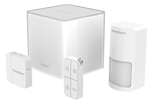 iSmartAlarm Starter Pack, Sistema di Sicurezza Domestico Wireless Modulabile con App per iOs ed Android, Sensore di Movimento, Sensore di Porta/Finestra, Colore Bianco