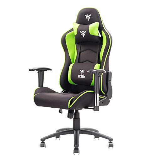 Itek Gaming Chair PLAYCOM FM20, Acrilico, Verde, NORMALE