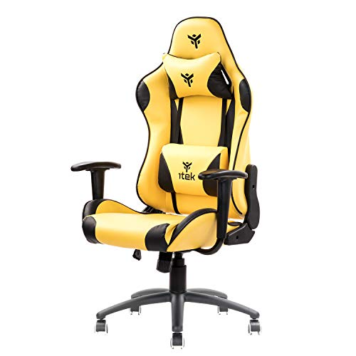 Itek Gaming Chair PLAYCOM PM20, Giallo, NORMALE