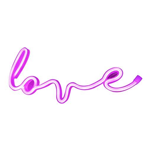 IWILCS Love Neon, lampada al neon da parete a LED, luce notturna, luce al neon arcobaleno, per casa, festa, anniversario, San Valentino, decorazione per la camera da letto