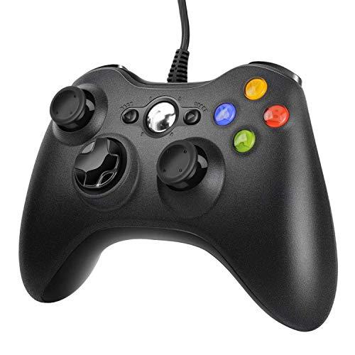 JAMSWALL Xbox 360 Game Controller, PC Gamepad cablato USB Joystick Wired Game Controller Gamepad controller di design ergonomico migliorato per Xbox 360 PC Windows 7/ 8 / 10