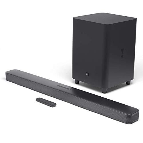 JBL BAR 5.1 Surround, Soundbar Bluetooth con Subwoofer Wireless per TV e PC, Telecomando, Dolby Digital 5.1, HDMI, Connessione Ottica, Ultra HD 4K Pass-through, 550 W, Nero