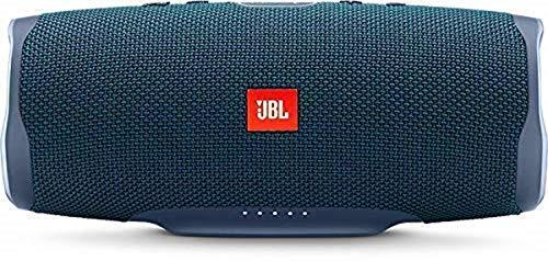 JBL Charge 4 Speaker Bluetooth Portatile, Cassa Altoparlante Bluetooth Waterproof IPX7, Con Microfono, Porta USB, JBL Connect+ e Bass Radiator, Fino a 20h di Autonomia, Blu