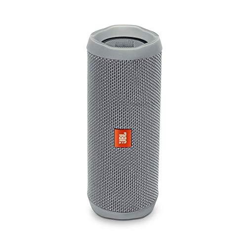 JBL Flip 4 Speaker Bluetooth Portatile, Cassa Altoparlante Bluetooth Waterproof IPX7, Con Microfono, JBL Connect+ e Bass Radiator, Compatibile con Siri e Google, Fino a 12h di Autonomia, Grigio
