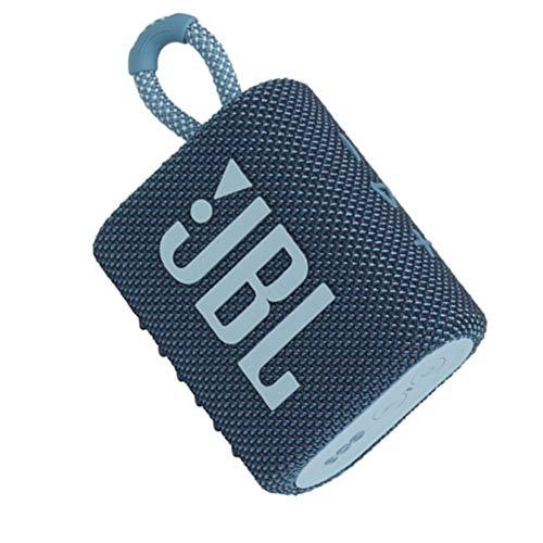 JBL GO 3 Speaker Bluetooth Portatile, Cassa Altoparlante Wireless con Design Compatto, Resistente ad Acqua e Polvere IPX67, fino a 5 h di Autonomia, USB, Blu