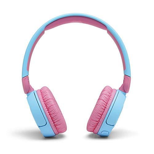 JBL JR310BT Cuffie Wireless per Bambini con Limitatore di Volume e Bluetooth, Cuffie On Ear Senza Fili con Microfono, Pieghevoli, Leggere e Comode, fino a 30h di Autonomia, Blu